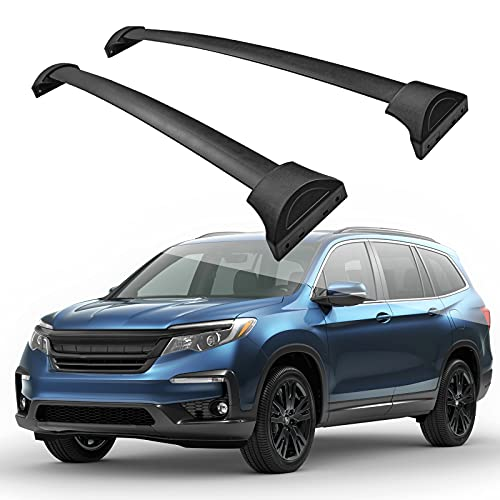 AUTOSAVER88 Roof Rack Cross Bars Compatible with 2016-2020 Honda Pilot with Side Rails, Aluminum Crossbars Cargo Carrier Bag Camping Gear Bike Fishing Poles Luggage Rack