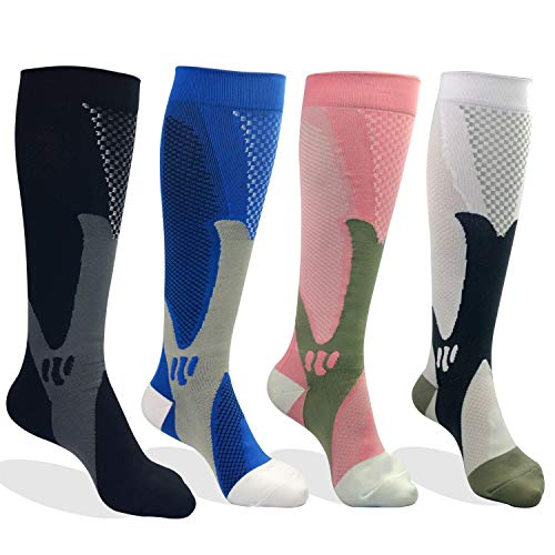 Compression Socks for Men & Women, Better Blood Circulation, Prevent Blood Clots, Speed Up Recovery BEST Graduated Athletic Fit for Running, Nurses,Medical Use,Shin Splints (L-XL Black, 2 Pairs)