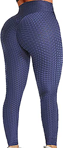 JGS1996 Women High Waisted Yoga Pants Workout Butt Lifting Scrunch Booty Leggings Tummy Control Anti Cellulite Textured Tights