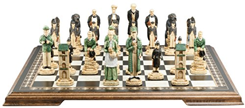 SAC Sherlock Holmes Chess Set, Hand-Painted (Without Board)