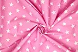 Pyrhan Polycotton Stars Print–45 Inch Wide Dress Fabric Material by The Metre -Polycotton Print Used in Sewing Kit and Accessories-Quilting Fabric
