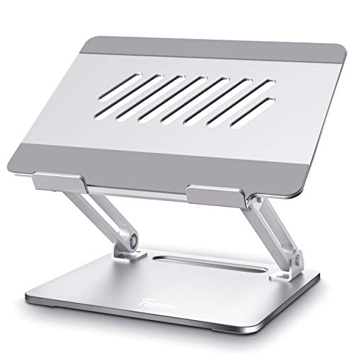 Laptop Stand, Adjustable Laptop Stand for Desk, Ergonomic Laptop Riser with Heat-Vent, Computer Stand Compatible with MacBook Air/Pro, Dell, HP, Samsung, Lenovo, More 10-15.6' Laptops, [Fatorm]