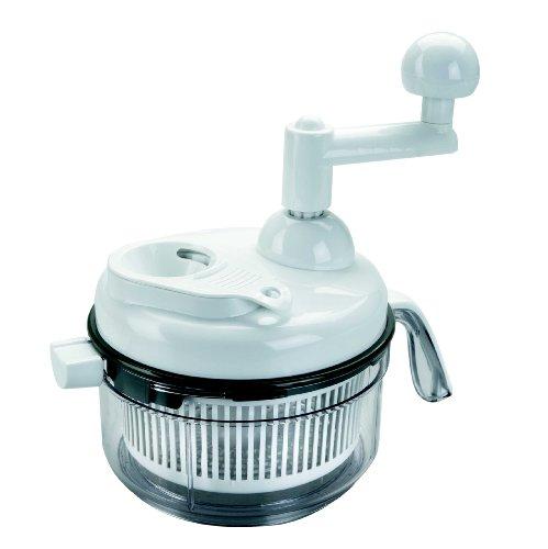 Lacor - 60361 - Mini Picadora de 2 cuchillas+batidor 1 Litro Manual