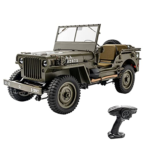 RocHobby RC Car, 1:12 Scale 1941 MB Scaler RC Crawler RTR, 2.4GHz Off-Road Vehicle RC Truck for Adults and Kids, with Battery and Charger