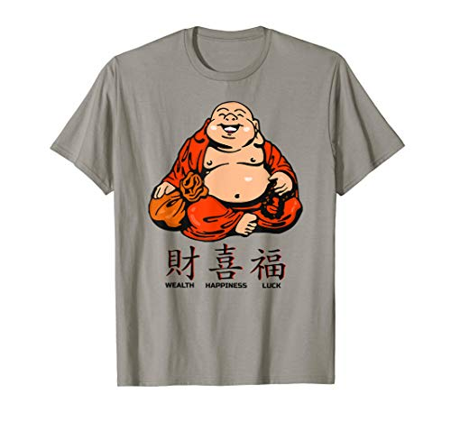 The Laughing Fat Buddha Wealth Happiness Luck Graphic Tshirt