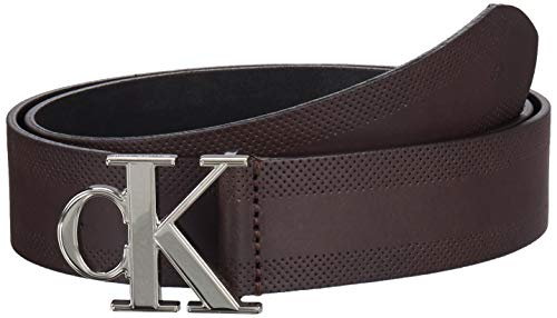 Calvin Klein Ckj Gym Class Monogram 35mm Cinturón, Marrón (Bitter Brown Bap), 85 para Hombre