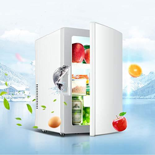 DEAR-JY 18L Mini-Kühlschränke,Kompakter Tragbarer Leiser Multifunktions-Haushaltskühlschrank Autokühlschrank Mit Kühl- Und Erwärmungsfunktion,Geeignet Für Schlafzimmer Auto Büro Studentenwohnheim