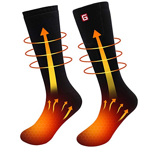 Rechargeable Electric Heated Socks,Men Women Battery Operated Heating Socks,Sports&Outdoors Winter Warm Thermal Heated Sox,Climbing Hiking Skiing Hunting Snowboarding Heated Socks,Upgraded Foot Warmer