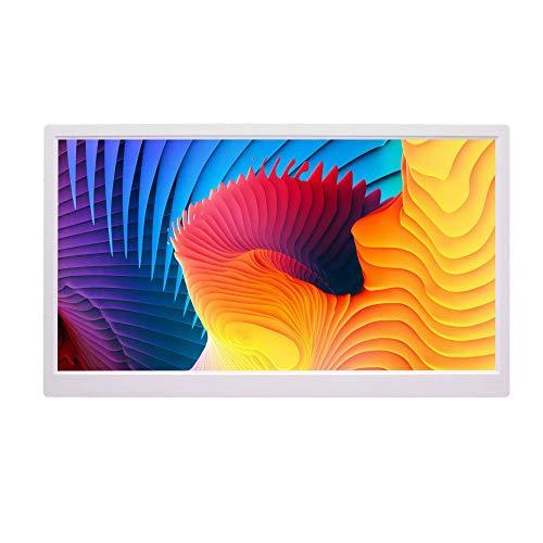 9LONxiST 22 Zoll LED-Hintergrundbeleuchtung HD 1920 * 1080 Digitaler Bilderrahmen Elektronisches Album digitales Bild Musikvideo,Weiß,UKPlug