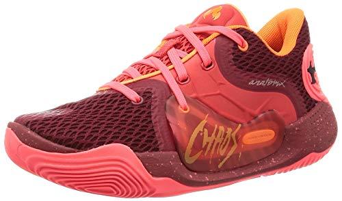 Under Armour 3022626-600_44,5, Zapatillas de Baloncesto Hombre, Red, 44.5 EU