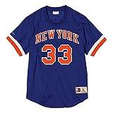Mitchell & Ness Patrick Ewing Name & Number Mesh Crewneck (New York Knicks), Camiseta de Mangas Cortas de Hombre