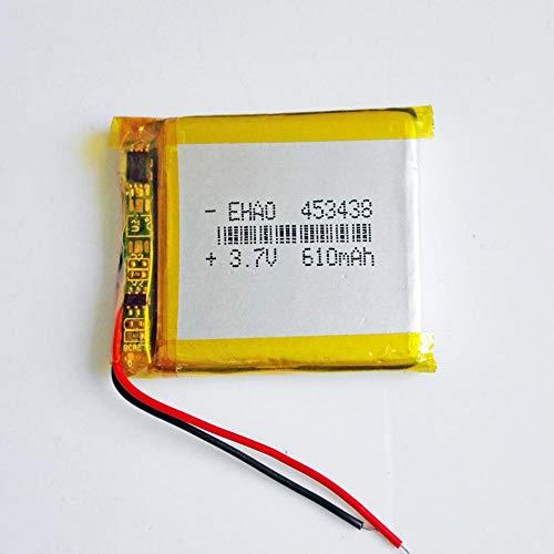 Dilezhiwanjuwu 3.7V 610MAH Lipo Batería Recargable Polímero de Litio 453438 Célula de...