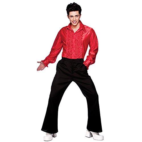 Red Disco Ruffle Shirts