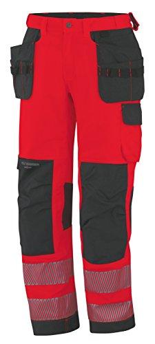 Helly Hansen Workwear waarschuwingsbescherming montagebroek York Construction Pant werkbroek D88 rood