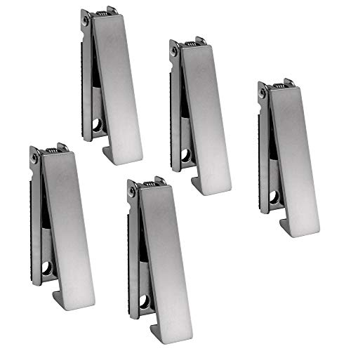 RecPro RV Stainless Steel Baggage Door Catch Latch | Square (5 Pack)
