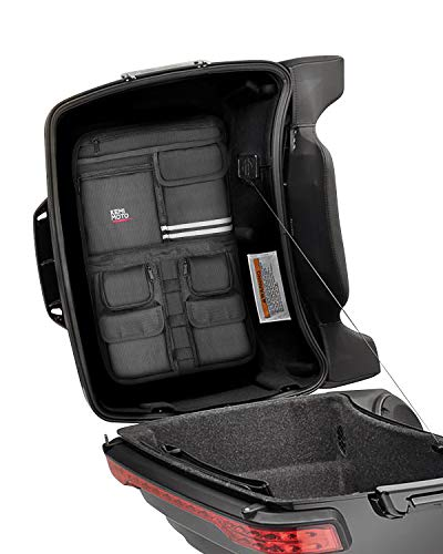 Tour Pack Lid Organizer for Road Glide Road King Electra Glide Street Glide Touring Travel-Paks