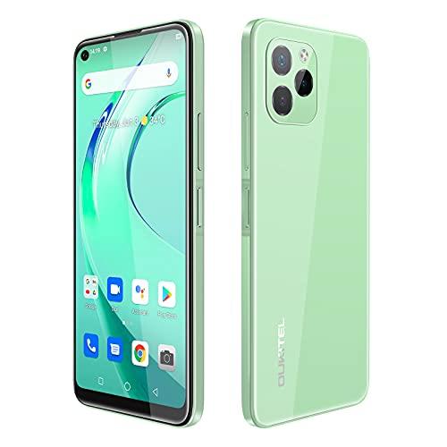 OUKITEL C21 PRO Smartphone Android 11 6.39HD+ 4000mAh Batteria 4GB+64GB Dual SIM Smartphone Offerta del Giorno 2021 Versione Globale Tripla Fotocamera OTG Reverse Charge Face Fingerprint ID Verde