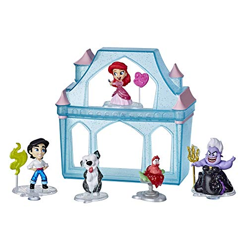 Disney Princess Comics Surprise Adventures Ariel with 5 Dolls, Accessories, and Display Case, Fun Unboxing Toy for Kids 3 Years and Up