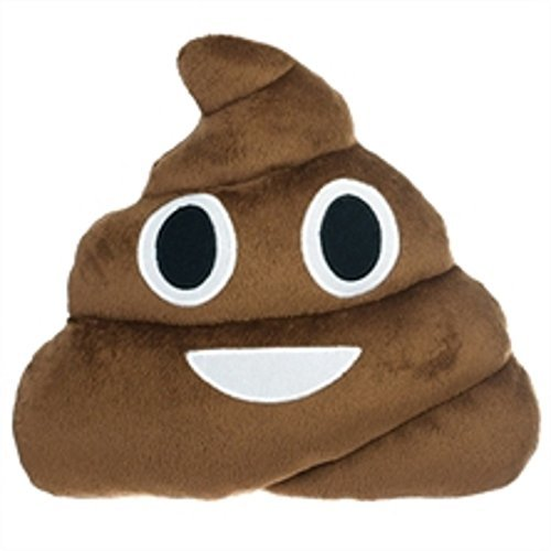 Poop Pillow Emoji Smiley Face Stuffed Pillow by almer