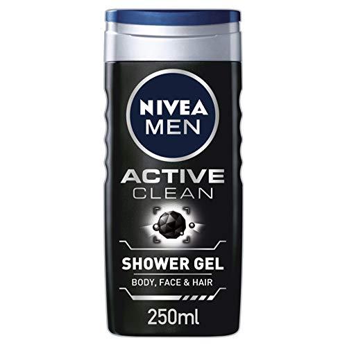 Nivea Men Duschgel Active Clean mit Kohle, 250 ml