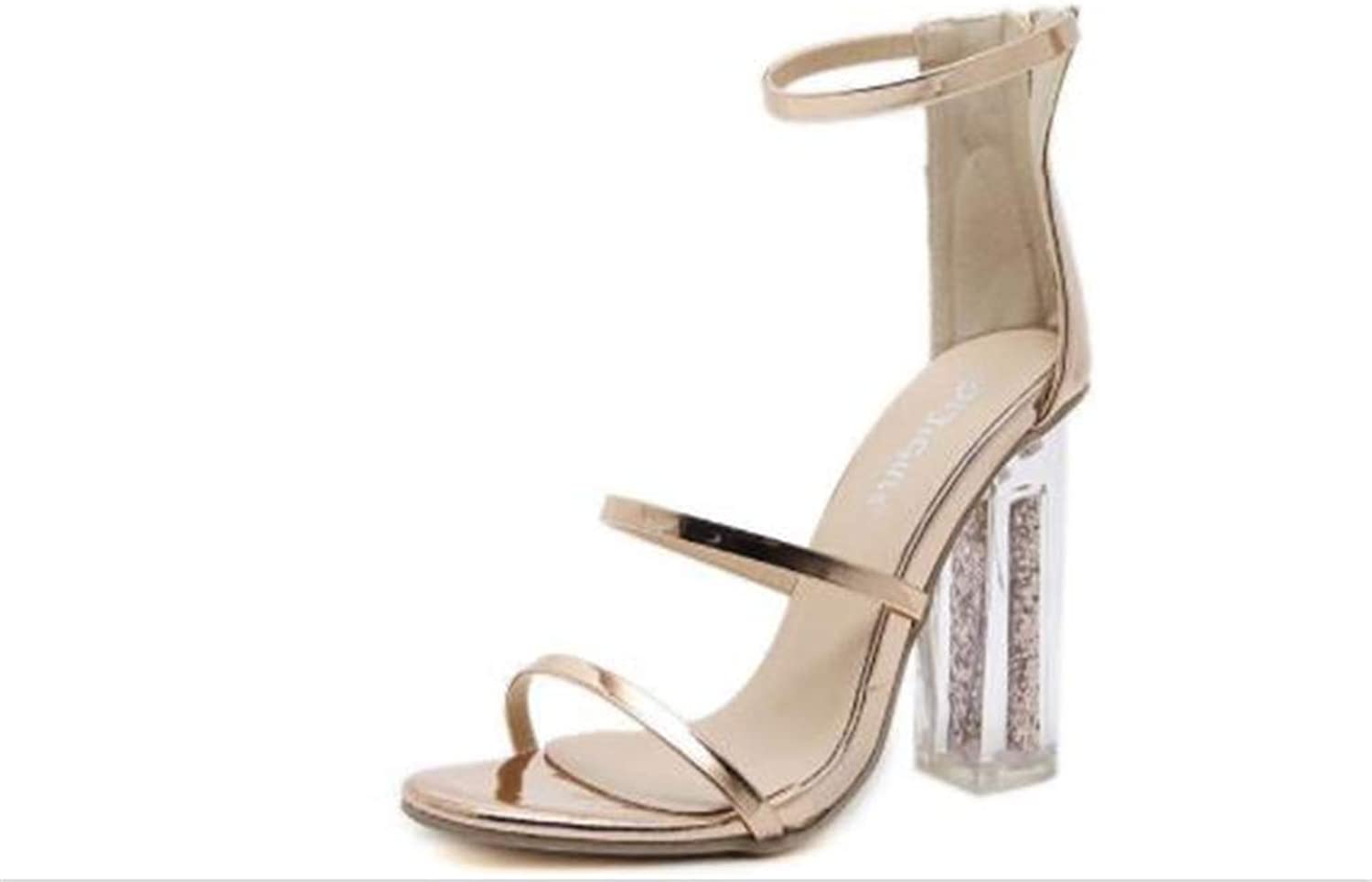 F1rst Rate Womens Strappy Open Toe High Chunky Heel - Sexy Heel Sandal - Strappy shoes