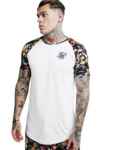 Sik Silk Hombres Camisetas Secret Garden Raglan Curved Hem