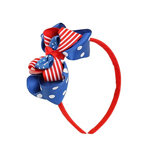 Tinksky Amerikanische Flagge Stirnband patriotischen Kopf Band Unabhängigkeitstag Headwear Hair Hoop Mädchen Hairdress für Nationale Flaggentag