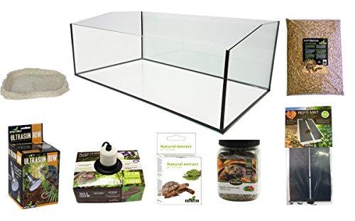 Reptiles Planet Kit Terrarium komplett mit Becken geöffnet für Schildkröte terrestrisch 80x 45x 30cm
