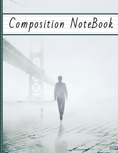 Composition Notebook: College Ruled   Golden gate bridge   walk: fog paysage   book for students, girls, boys, kids   120 Pages   Size: 8.5X11 inches
