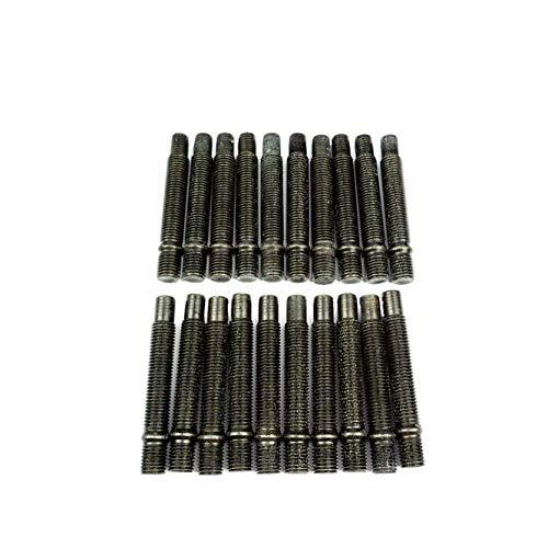 WEMAR Autozubehör GmbH 20 x Doppelgewindebolzen M12x1,25 82mm |Stehbolzen für Lug Nuts | schwarz |