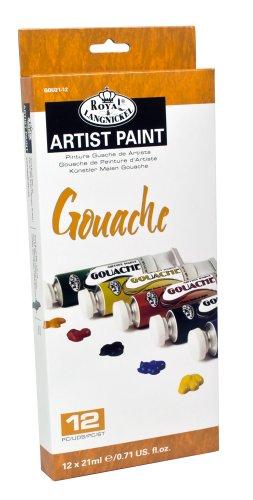 Royal & Langnickel Gouache Color Artist Tube Paint, 21ml, 12-Pack