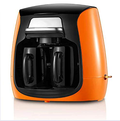 LYA Fully Automatic Coffee Machine, Self-Grinding, Anti-Drip Type, 0.45Mm Filter, Automatic Power-Off Protection, Mellow Taste,Orange