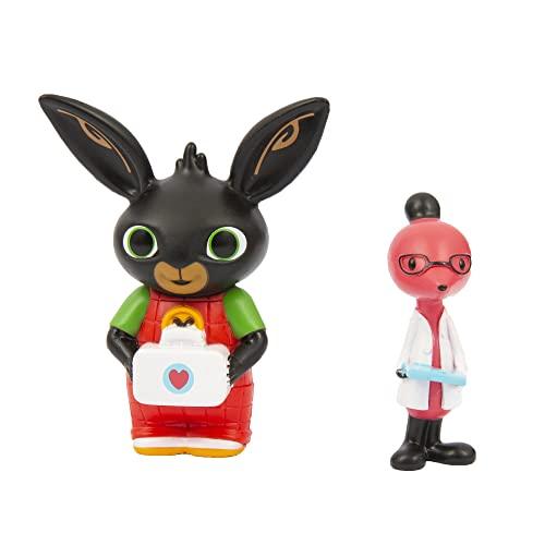 Bing - Coppia di Mini Personaggi Bing Doctor e Dottor Molly, adatto per le mani dei più piccoli, collezionali tutti, per bambini a partire dai 18 mesi, BNG10K01, Giochi Preziosi