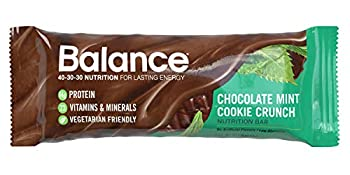 Balance Bar Healthy Protein Snacks Chocolate Mint Cookie Crunch 1.76 oz 6 Count