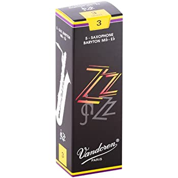 Vandoren SR443 Bari Sax ZZ Reeds Strength 3; Box of 5