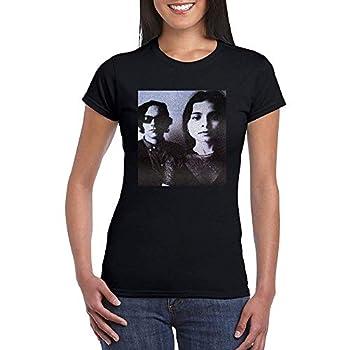 YULUYYY Women s Mazzy Star Photo Fashion Relaxed T-Shirt Tee Black X-Large