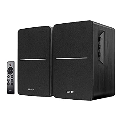 Edifier R1280DBs Active Bluetooth Bookshelf Speakers - Optical Input - 2.0 Wireless Studio Monitor Speaker - 42W RMS with Subwoofer Line Out - Black from Edifier