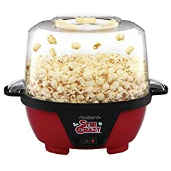 affodable The West Bend 82505 Crazy Electric Hot Oil Stir Popcorn Popper Machine offers a large serving bowl lid and easy storage. 6 liters, red