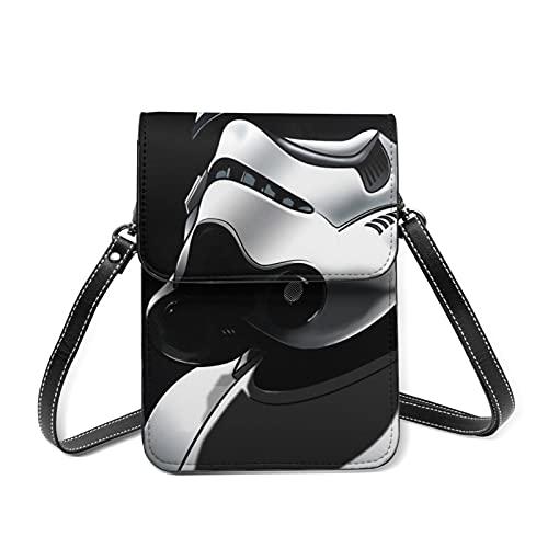 Star Wars Mandalorian Cross Body Bag Bolso pequeño ligero mini bandolera con ranuras para tarjetas de crédito, multifuncionales
