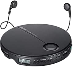 Portable CD Player, Rydohi Compact Anti-Skip Small Walkman CD Player, Lightweight & Shockproof Personal Music Disc Player with Earbuds for Kids & Adults - Home & Travel - Car
