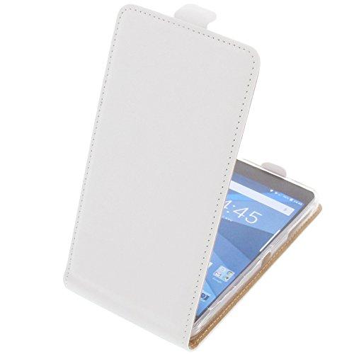 foto-kontor Funda para Blackberry DTEK50 Protectora Tipo Flip para móvil Blanca
