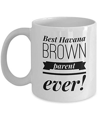 Taza de café Havana Brown Cat Mom, Cat Dad, regalos de café, padres de mascotas, regalos para los amantes de los gatos locos, regalos para mujeres y hombres, adoptivos, taza de té de 11 onzas