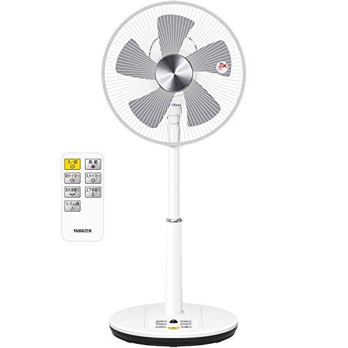山善 DCモーター搭載 30cmリビング扇風機 立体首振り (静音モード搭載)(リモコン)(風量5段階) 入切タイマー付 ホワイト YLRX-BKD301(W)