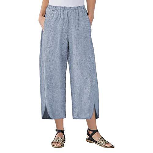 cinnamou Sommer Hosen Damen Leicht Elegant Homewear Hosen Damen 7 8 Hosen Damen Sommer Lässige Hosen in übergrößen Damen