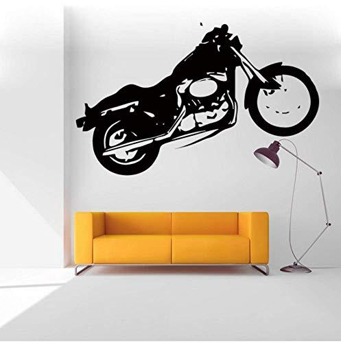 Muursticker Motorbike Harley USA Graffiti Bike Stickers Kinderkamer Decoratie Art Muursticker voor Home Decor 57Cmx90Cm