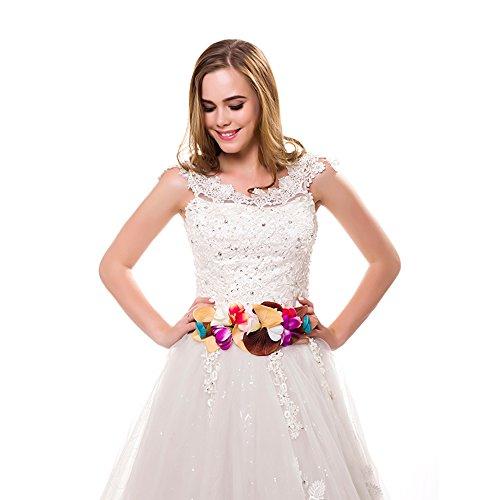 Ever Fairy moda flor cinturones para mujer niña dama de honor vestido...