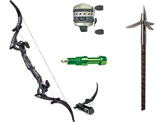 Oneida Eagle Bows Osprey Bowfishing Muzzy Package, Right Hand (Black Deadfin)