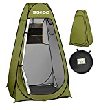 SGODD Pop Up Privacy Shower Tent,Instant Portable Outdoor Shower Tent Camp Toilet, Changing Room, Rain Shelter with Carry Bag for Camping Hiking Beach Toilet Shower Bathroom Green