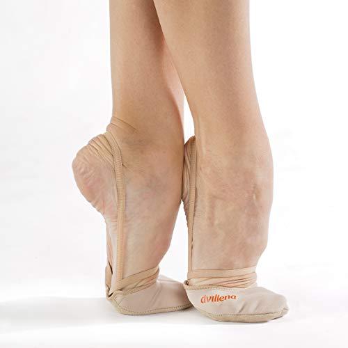 dvillena - Modelo Entrenamiento Sahara | Famosa Marca de Punteras de Gimnasia Rítmica Niña y Mujer | Puntas Que Usan Grandes Gimnastas Mundiales | Bailarinas Aérobica Deporte Danza Zapatillas Ballet