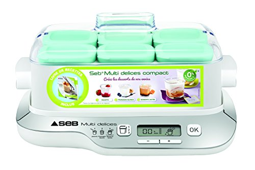Seb YG6571FR - Yogurtiera compatta, 6 vasetti, colore: metallo/bianco